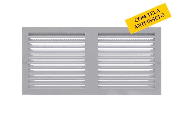 Rejilla ventilacion PVC  12x24 c/mosquitero
